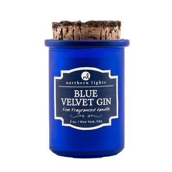 Northern Lights Candles: Spirits Jars-Blue Velvet Gin
