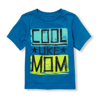 Toddler Boys Short Sleeve 'Cool Like Mom' Graphic Tee | The Children's Place