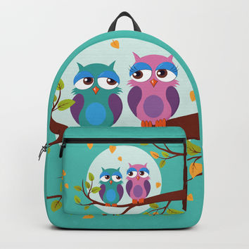 Sleepy owls in love Backpack by edrawings38