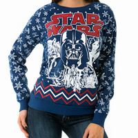 Navy Blue Star Wars Holiday Sweater