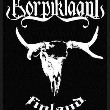 Korpiklanni Sew On Patch Finland Skull Logo