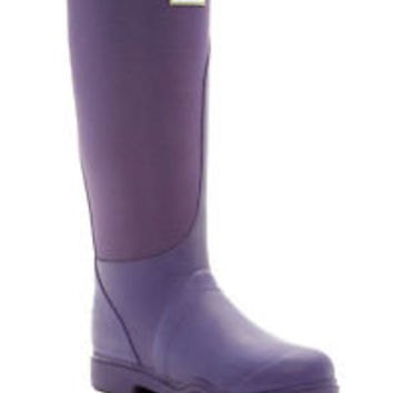 HUNTER TALL BALMORAL EQUESTRIAN STRETCH DARK IRIS PURPLE WELLINGTON BOOTS NIB