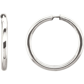 Sterling Silver (1.6mm) Endless Hoop Earrings, All Sizes
