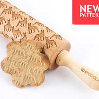 Boxer - Embossed, engraved rolling pin for cookies
