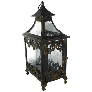 Antique Black Lantern with Glass Pane Top | Hobby Lobby | 272781