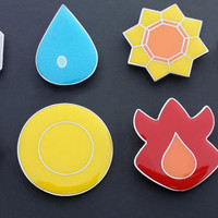 Pokemon Badges from the Kanto region. by PokemonBadges on Etsy