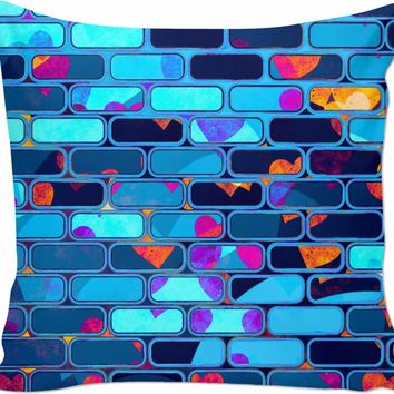 Psychedelic Techno Wall - Couch Pillow