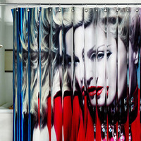"Shower Curtain madonna mdna pop singer ciccone 71x71""(180x180cm)"