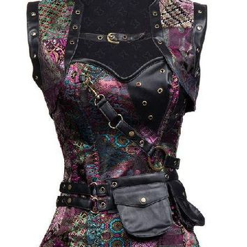 Burlesque Corset & Jacket - 4 Colors