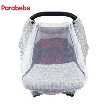 Luxury Baby Car Seat Cover For Newborn Mesh Canopy Car Seat Accessories Carseat Cover Infant Basket Baby Stroller Accessories