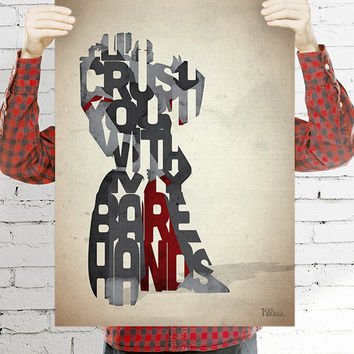 Megatron typography art print poster based on a quote from the movie The Transformers