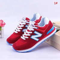 New Balance New fashion mesh couple contrast color shoes 1#