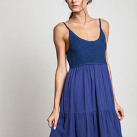 Do-Over Crochet Dress - Royal Blue