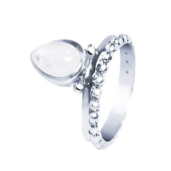 Omni Rainbow Moonstone 925 Sterling Silver Ring