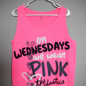 On Wednesdays We Wear Pink Tank Top (S,M,L,XL)
