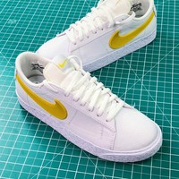 Nike Sportswear Blazer Low White Yellow Women's Sneakers - Best Online Sale