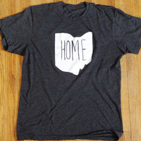 Home Ohio™ Unisex Screen Printed T-Shirt - Ohio Shirt - Heather Grey