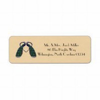 Vintage Peacock Return Address Labels