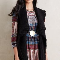 Tracy Reese Manchester Fringe Vest in Black Size: