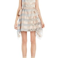 Fendi Stripe Satin Organza Halter Dress | Nordstrom