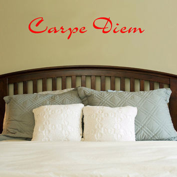Carpe Diem Vinyl Wall Decal Sticker Art