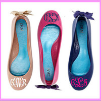 Monogrammed Flats with Bows! (OkaB- Lily Shoes)