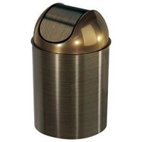 Umbra Mezzo 2.5-Gallon Swing-Top Waste Can, Bronze