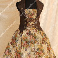 Cotten Sweet Sleeveless Vintage Candy JSK Infanta Lolita Dress