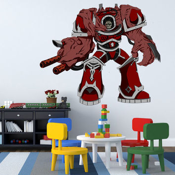 Full color decal Angry Transformer sticker, Transformer wall art decal gc410