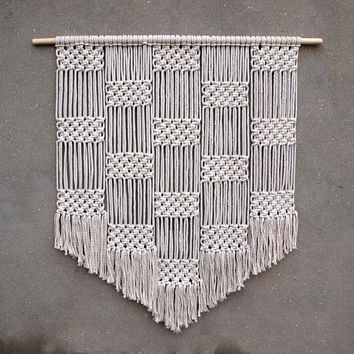 Large wall hanging Xl macrame wall hanging Large tapestry Bohemian wall decor Handwoven modern macrame decor Geometric fiber art Rope decor