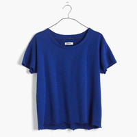 Cutoff Short-Sleeve Sweatshirt