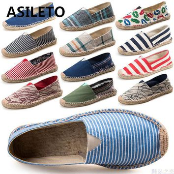 Black Retro Vintage Casual Espadrilles Shoes Unisex