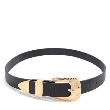 Geo Faux Leather Belt