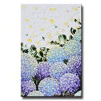GICLEE PRINT Art Abstract Painting Hydrangea Purple Lavender Blue White Flowers Canvas Prints