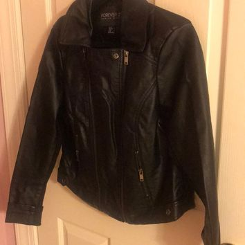 Forever 21 Plus Size Pleather Jacket