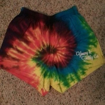 Tye Dye Young and Filthy Shorts Medium
