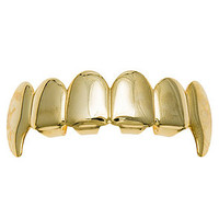 The Vampire Fang Top Grillz in Gold