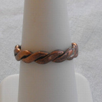 Copper Braided Ring Size 7 Vintage Jewelry