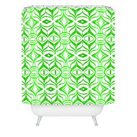 Lisa Argyropoulos Retro Spring Shower Curtain