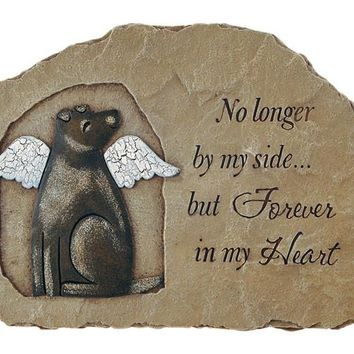Dog Stepping Stone Memorial Marker and Wall Plaque