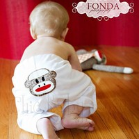 Sock Monkey Pants by Chic Baby Rose Great Photo by chicbabyrose