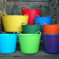 Large Trug Tubs in Brilliant Colors | Kinsman Garden