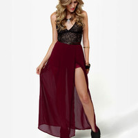 Cute Burgundy Skirt - Maxi Skirt - Skort - Wine Red Skirt - $41.00