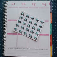 25 Exam Week Stickers, perfect for your Erin Condren, Plum Paper, Filo Fax, Calendar and more!