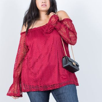 Plus Size Right Direction Lacey Top