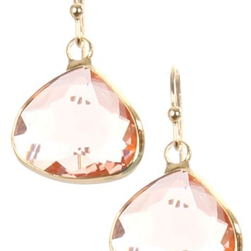 Peach Trillion Cut Faceted Lucite Stone Earring