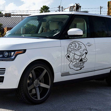 zombie car hood decal Zombie Car Decals Zombie Car Truck Side Body Graphics Decal Sticker for car kikcar20