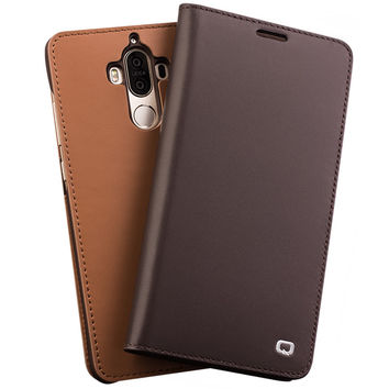 Case for Huawei Ascend Mate9 Handmade Genuine Leather Cover for Huawei Mate9 pro Luxury Ultra Slim Flip Case 5.9 holster