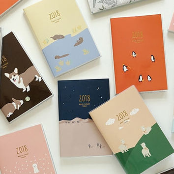 2018 PLANNER | Monthly Planner | Weekly Planner | Yearly Planner | Gold Foil Planner | To do List | 2018 Calendar | Welsh Corgi Dog | Gift