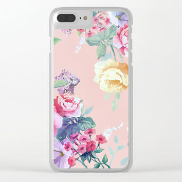 Floral pattern 2 Clear iPhone Case by printapix